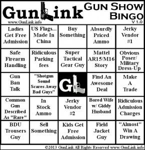 Gun Show Bingo Card