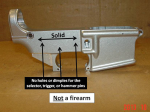 Receiver Blank: Not a Firearm