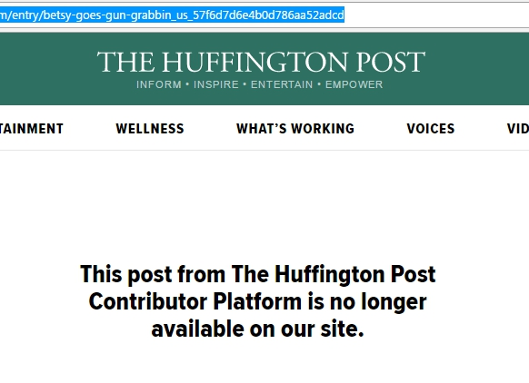 HuffPo Pulls Anti-Gun Article After People Notice Them